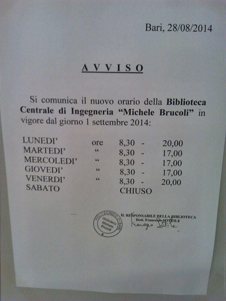 Calendario Lezioni Uniba.News Aup Azione Universitaria Politecnico Di Bari